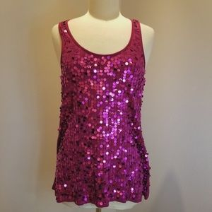 Sparkly Eyeshadow Tank - Girls night out